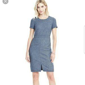 Banana Republic Luxury Italian Flannel Wool Dress